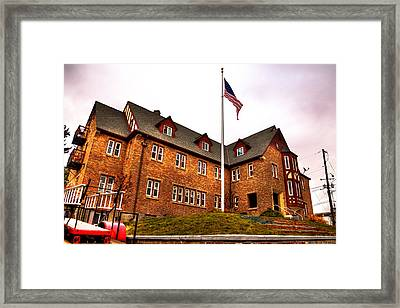 Lambda Chi Alpha Fraternity On The Wsu Campus Framed Print by David Patterson