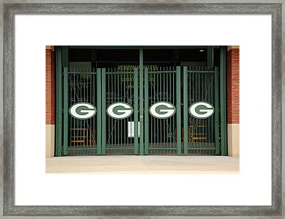 Lambeau Field - Green Bay Packers Framed Print