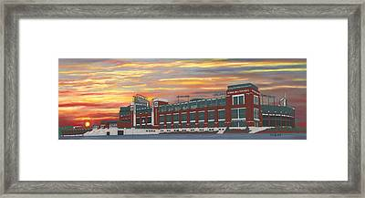 Lambeau Sunset Framed Print