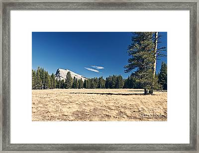 Lambert Dome In Yosemite National Park Framed Print by Justin Paget