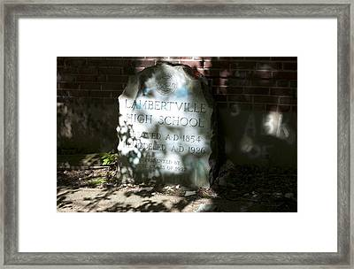 Lambertville High School  Framed Print by Tony Hart-Wilden
