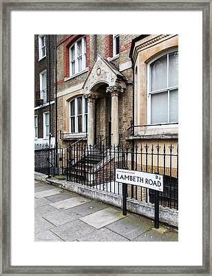 Framed Print featuring the photograph Lambeth Road by Ross Henton
