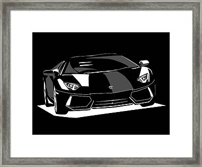 Lamborghini Aventador Framed Print by Michael Tompsett