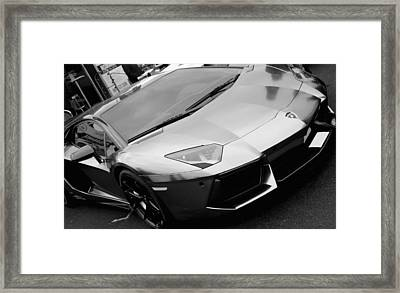 Black And White Shine Framed Print
