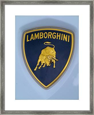 Lamborghini Car Badge Framed Print