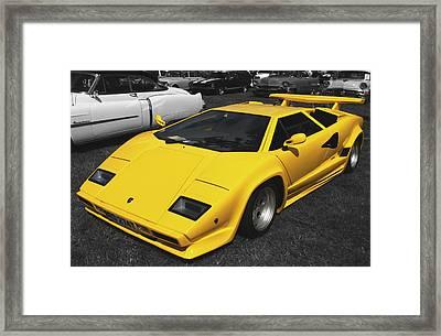 Lamborghini Countach Framed Print