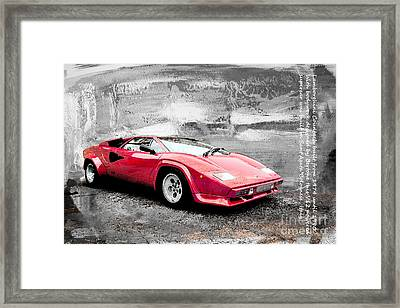 Lamborghini Countach Framed Print by Roger Lighterness