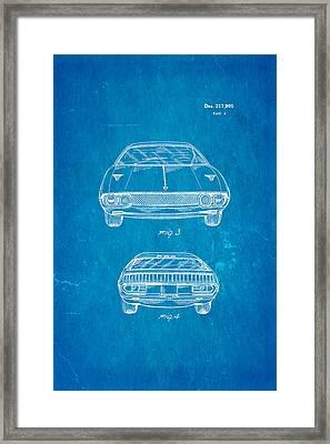 Lamborghini Espada Design Patent Art 2 1970 Blueprint Framed Print by Ian Monk