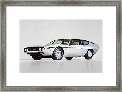Lamborghini Espada Watercolor Framed Print