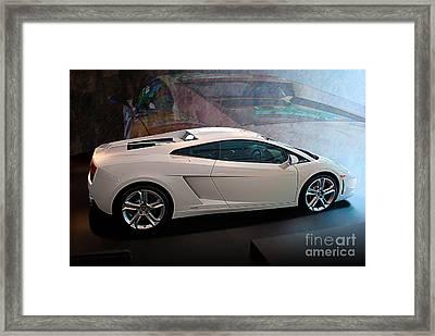 Lamborghini Gallardo Lp550-2 Side View Framed Print