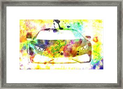 Lamborghini Huracan Colorful Abstract Painting Framed Print by Eti Reid