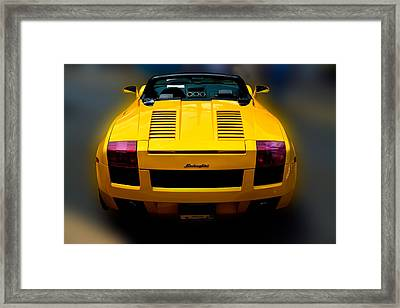 Lamborghini In Yellow Framed Print by William Jobes
