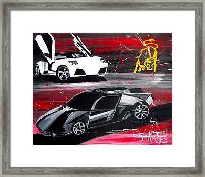 Lamborghini Leverage Framed Print
