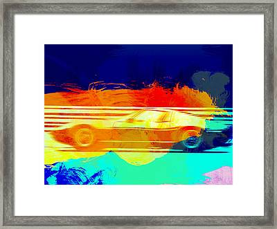 Lamborghini Miura Side 1 Framed Print by Naxart Studio