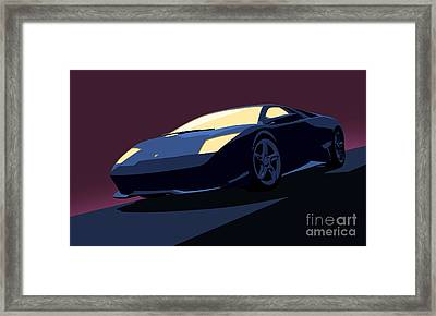 Lamborghini Murcielago - Pop Art Framed Print by Pixel  Chimp