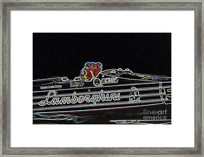 Lamborghini Power Boat Framed Print by Brian Roscorla