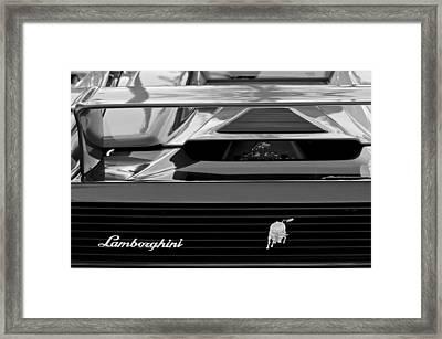 Lamborghini Rear View Emblem Framed Print