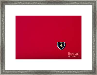 Lamborghini Red Framed Print by Tim Gainey