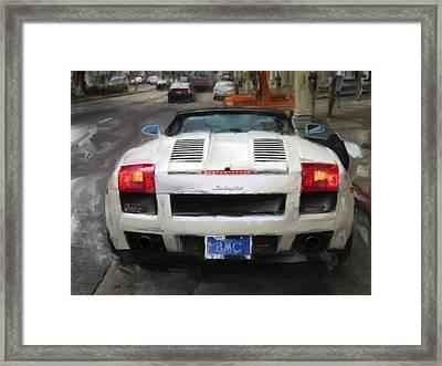 Lamborghini - San Francisco Framed Print