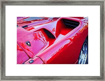Lamborghini Side Emblem -0116c Framed Print by Jill Reger
