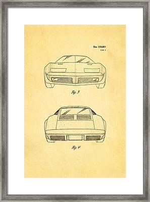Lamborghini Style Gmc Automobile 2 Patent Art 1974 Framed Print