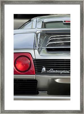 Lamborghini Taillight Emblem Framed Print