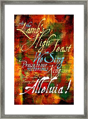 High Feast Of The Lamb Framed Print