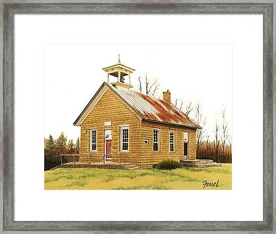 Framed Print featuring the painting Lambson School by Ferrel Cordle