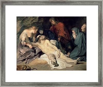 Lament Of Christ Framed Print by Peter Paul Rubens