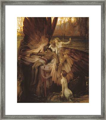 Lament Of Icarus Framed Print