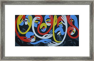 Lamentation And Resolution, 1983 Acrylic On Board Framed Print by Ron Waddams
