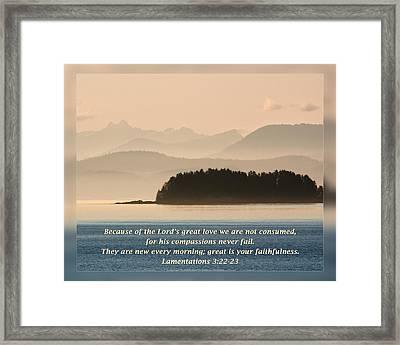 Lamentations 3 22-23 Framed Print by Dawn Currie