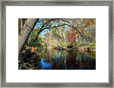 Lamington River At Tewksbury  Framed Print by George Oze