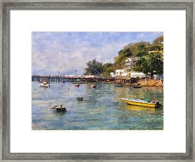 Lamma Island Bay Framed Print by Yury Malkov