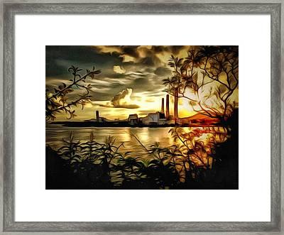 Lamma Island Power Station 2 Framed Print by Yury Malkov