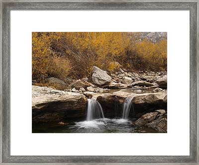Framed Print featuring the photograph Lamoille Creek by Jenessa Rahn