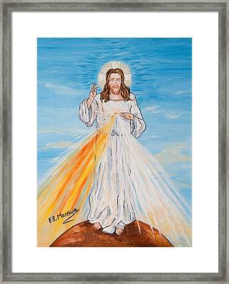Framed Print featuring the painting L'amore by Loredana Messina