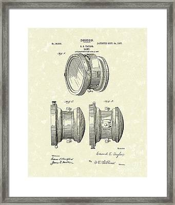 Lamp 1907 Patent Art Framed Print by Prior Art Design