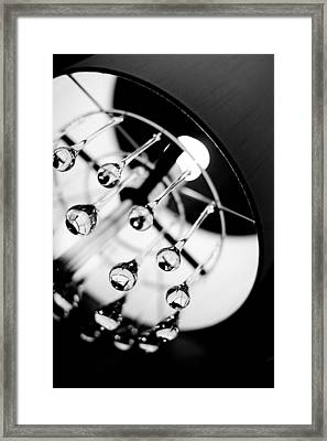 Lamp Abstract Framed Print by Rebecca Cozart