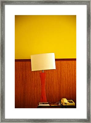Lamp And Desk Framed Print by Jess Kraft