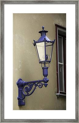 Lamp In Cologne Framed Print