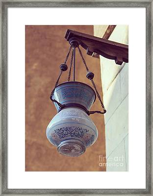 Lamp In Mosque  Framed Print