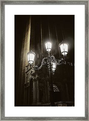 Lamp Light St Mark's Square Framed Print