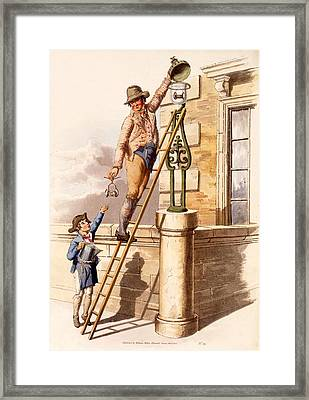 Lamp Lighter, From The Costumes Framed Print