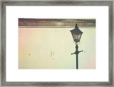 Lamp Post Shadow Framed Print