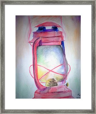 Lamp Unto My Feet Framed Print