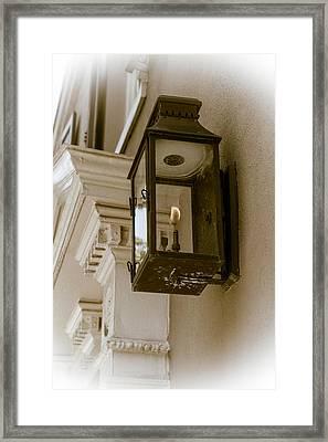 Framed Print featuring the photograph Lamp Unto My Feet by Sennie Pierson