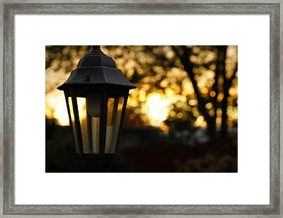 Framed Print featuring the photograph Lamplight by Photographic Arts And Design Studio