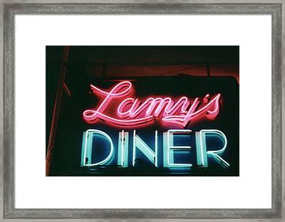 Lamys Diner Framed Print