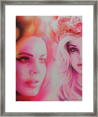 ' Lana Del Rey ' Framed Print